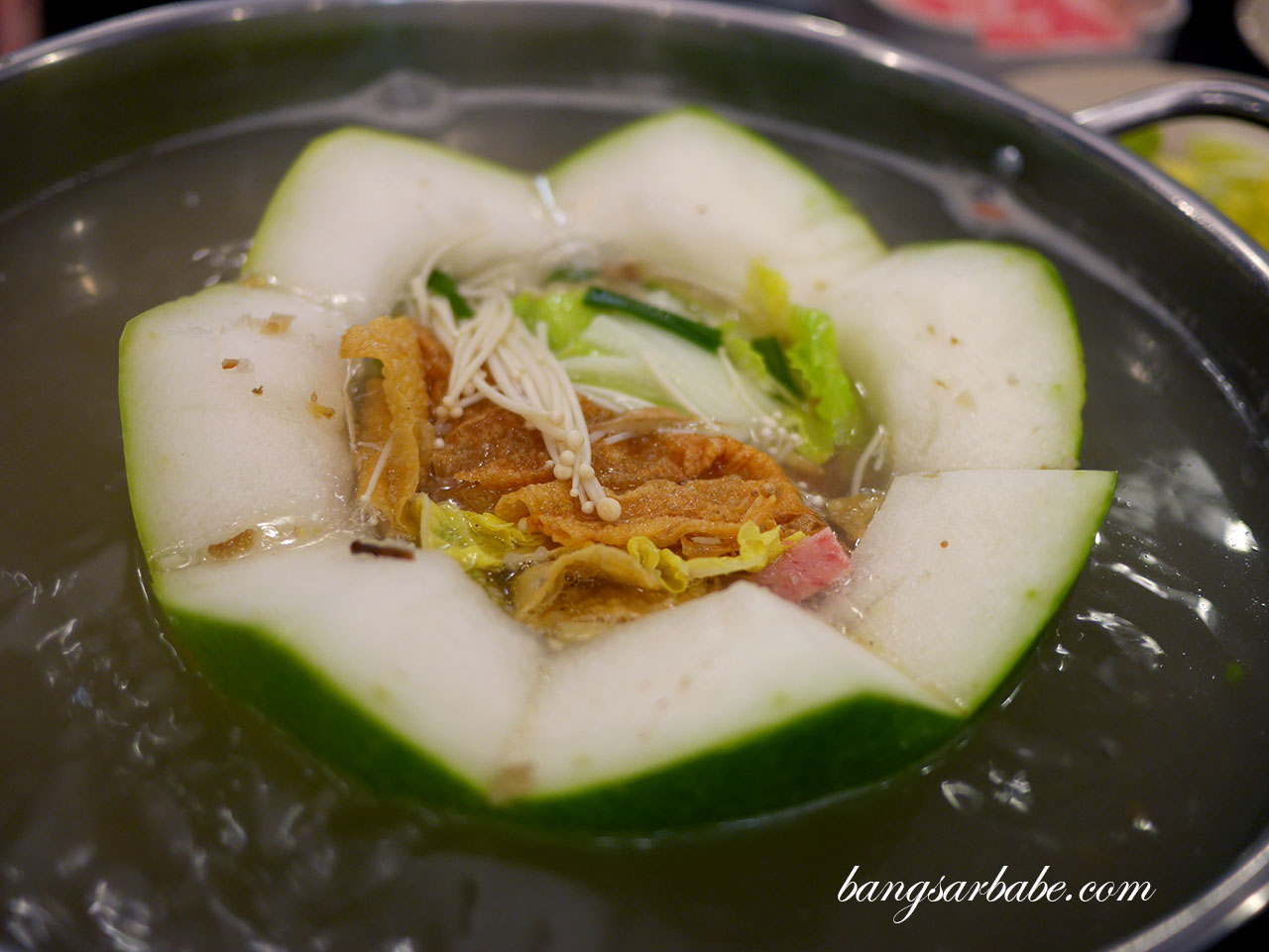 The broth is sweet from the wintermelon