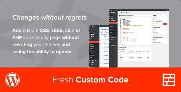 Fresh Custom Code v1.3.2 - WordPress Plugin