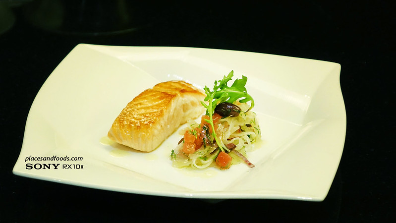 dinner and audience with gary rhodes pan seared salmon