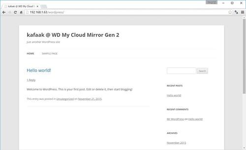 รัน WordPress จาก WD My Cloud Mirror Gen 2 ได้เลย