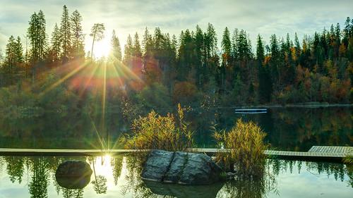 autumn sunrise schweiz switzerland graubünden crestasee laglacresta