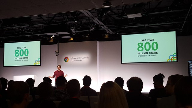 Chrome Dev Summit, Chrome 800 million users