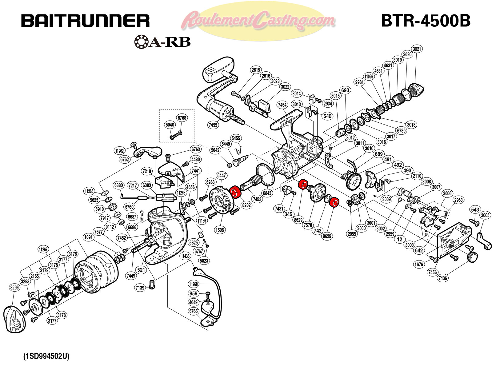 Schema-Shimano-BAITRUNNER-4500B