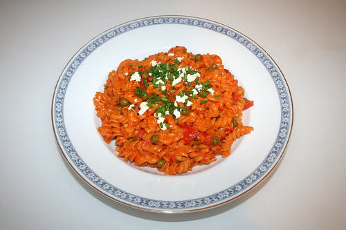 35 - Ajvar bacon noodles - Served / Ajvar-Speck-Nudeln - Serviert