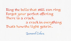 Quotation - Leonard Cohen