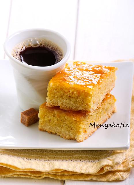 Marmalade and almond bars