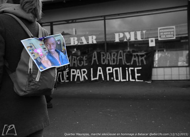 Quartier Maurepas, marche silencieuse en hommage à Babacar