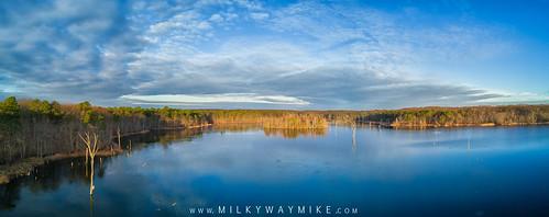 dji mavic pro manasquan reservoir birds ey view new jersey nj landscape lake nature panorama pano blue sky