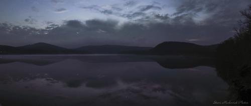 smack53 monksvillereservoir reservoir lake water evening night nighttime ringwood newjersey panorama canon powershot sx150is canonpowershotsx150is reflections winter wintertime
