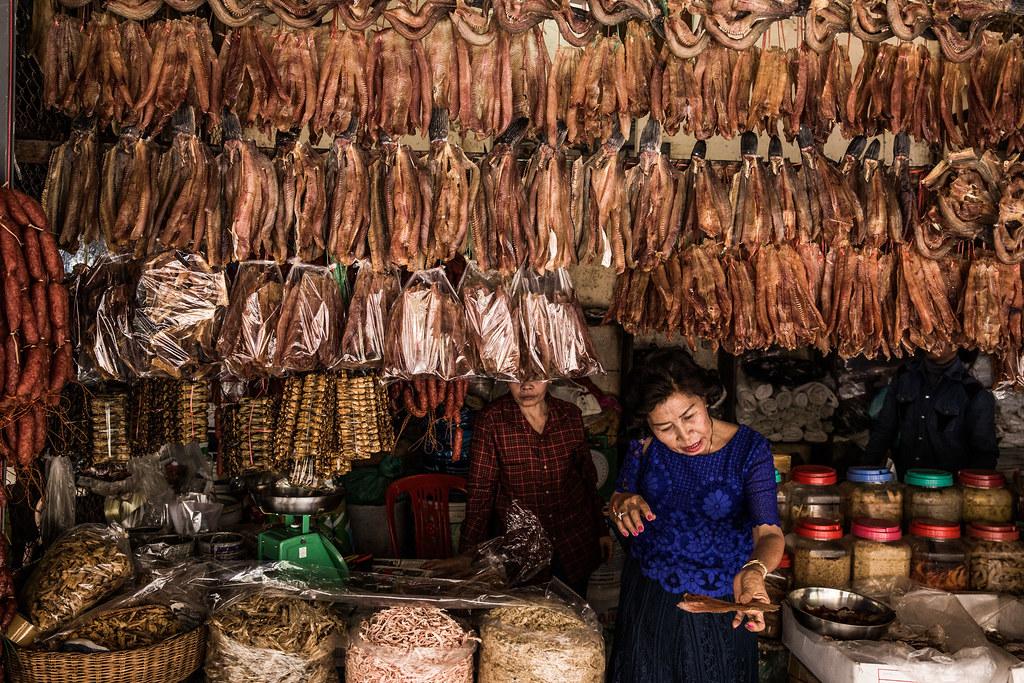 Camboya - Mercado Phsar Leu Thom Thmey