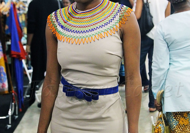 Xhosa-beadwork-necklace, multicoloured beaded necklace, multicoloured necklace, statement multi coloured necklace, south Africa fashion, south African fashion, south African multi coloured necklace, stunning beaded necklaces, blue skinny belt, mini pencil dress, sleeveless pencil dress