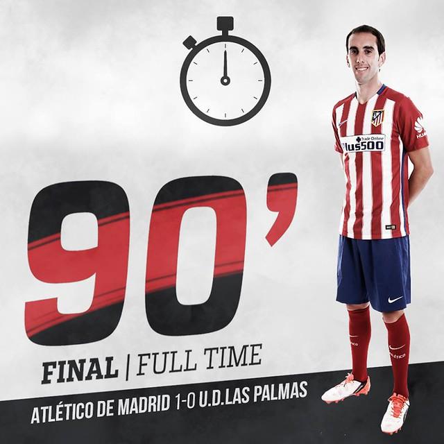 Liga BBVA: Atlético de Madrid 1 - U.D. Las Palmas 0