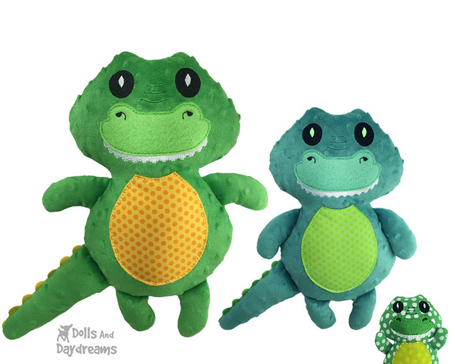 Croc Crocodile ITH Stuffie Pattern In The Hoop DIY embroidery machine Alligator