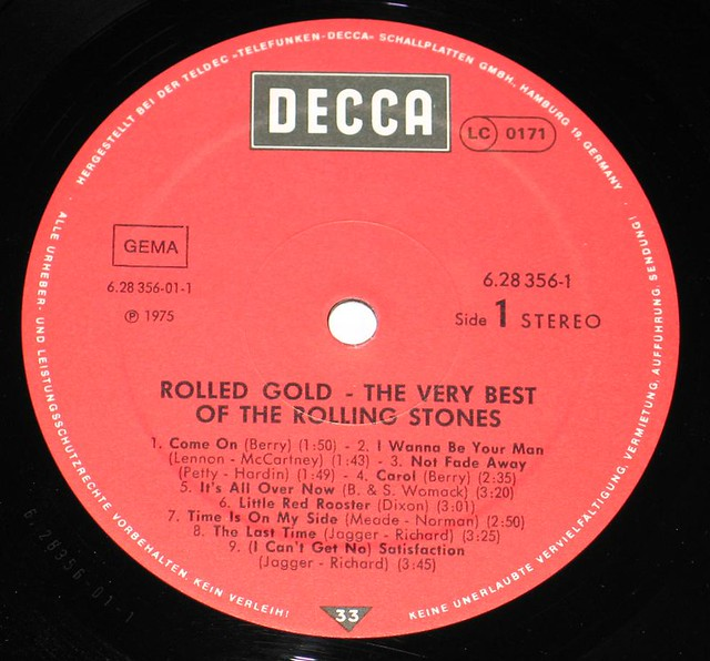 Rolling Stones Rolled Gold