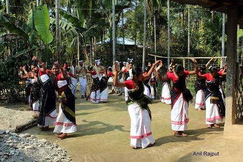 Mishing Tribe enjoying Moran Bihu, Majuli Island