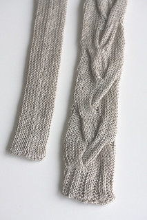 knit tie :: linen no.2