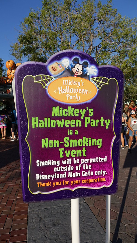 Signage at Disneyland Halloween Party