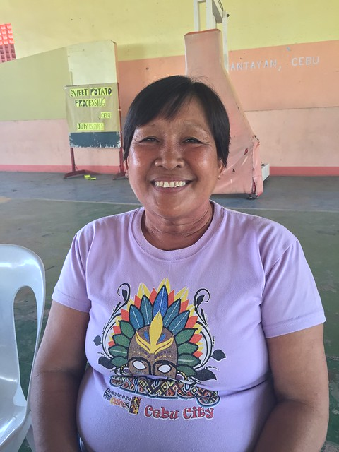 Local resident and civic center caretaker Loida Chiong