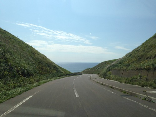 rebun-island-sukai-cape-views-of-the-road