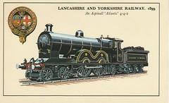 Postcard Lancashire and Yorkshire Railway, BSL8, 1899.