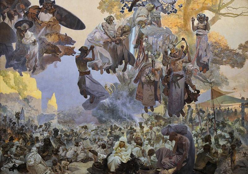 Alphonse Mucha - Svantovit Celebration on the Island of Rügen [1912]