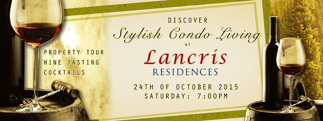 Lancris Residences Wine Tasting Poster