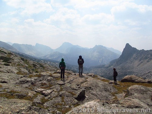 Don't forget to look back! Jackass Pass, Wind River Range, Wyoming