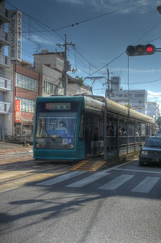Tramcars at Hiroshima on OCT 28, 2015 (8)