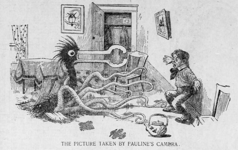 Walt McDougall - The Salt Lake herald., November 29, 1903,The Picture Taken By Pauline's Camera