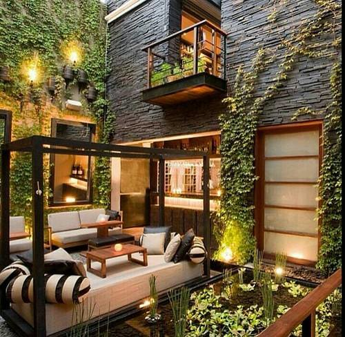 Do you love this cozy indoor/outdoor living space?