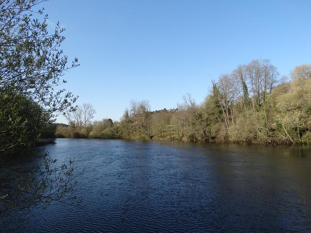 Río Ulla en el área recreativa de O Xirimbao - Teo