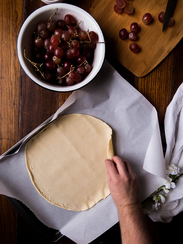 Roasted Grape & Huckleberry Jam Galette