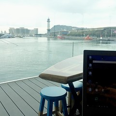 View from my desk today #todaysview #coworkingspace #oneoceanportvell