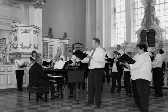 Choir practice - St. Paul's Chapel