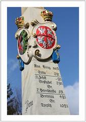 kursächsische Postmeilensäulen (Saxon post milestones)