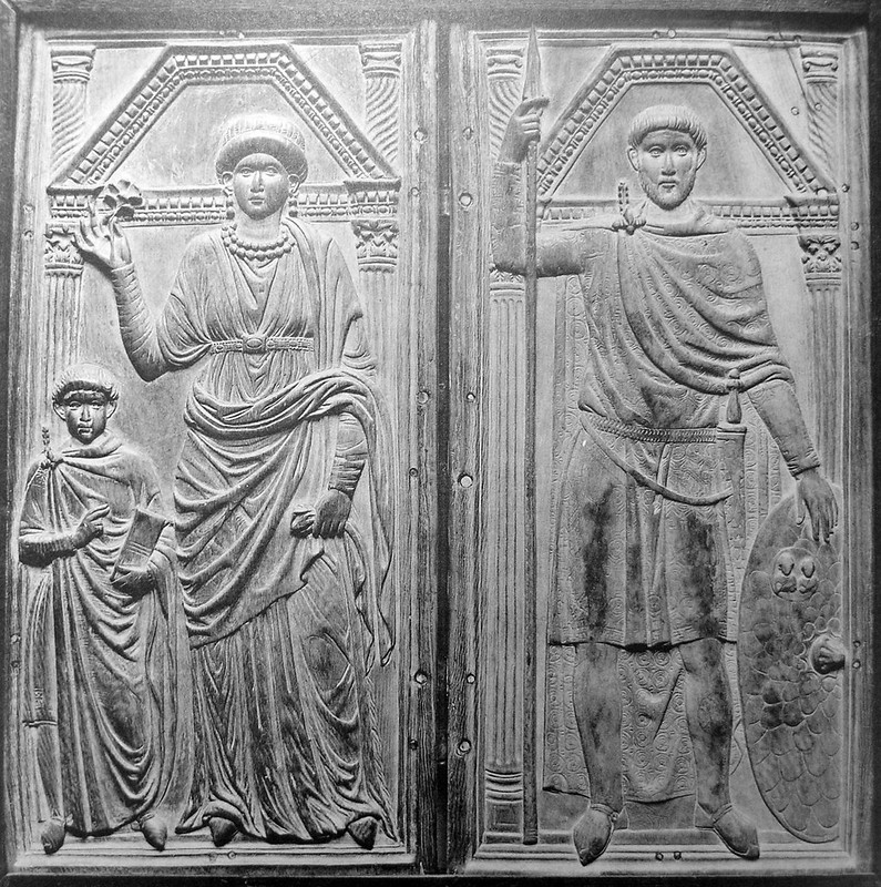 Roman general Stilicho with his wife Serena and son Eucherius