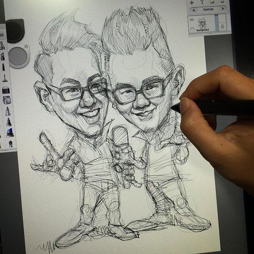 Challenge of sketching a twin!