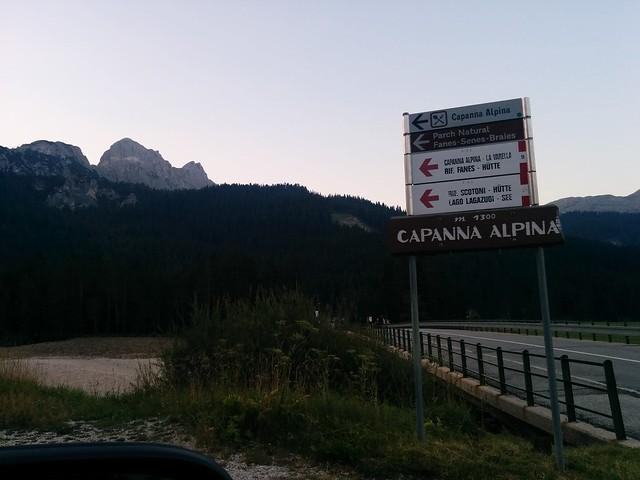 Fahrt zur Capanna Alpina St. Kassian