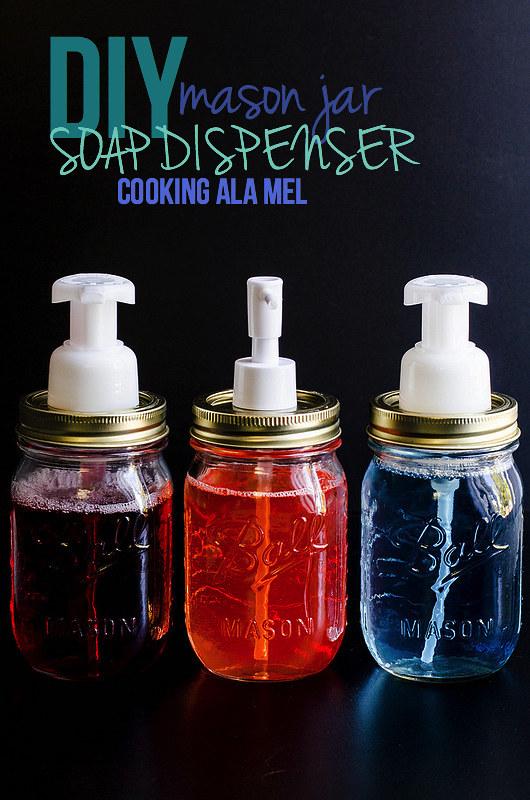 DIY Mason Jar Soap Dispenser | cookingalamel.com