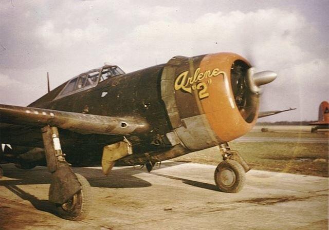 는 P-47의 빈티지 사진