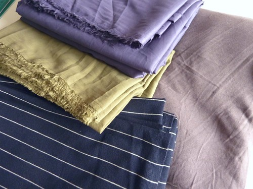 Light Weight Cottons, Navy Striped Ponte & Grey Jersey