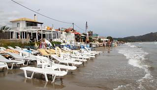 長さ 4165 メートルのビーチ Laganás 近く の画像. greece zante zakynthos