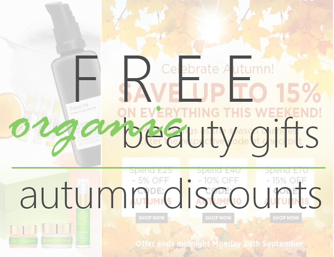 Discounts and Free Organic Beauty Gifts #36