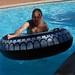 In the pool at B&B Bellavista de Colchagua by Tjeerd