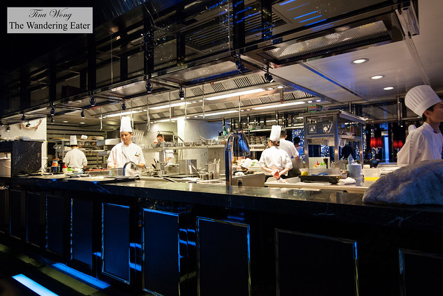 Open kitchen at Tosca