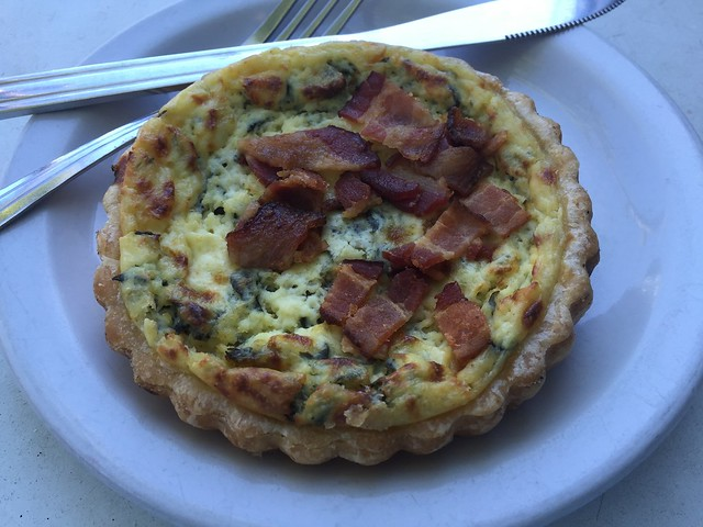 Bacon and leek quiche - Bauhaus Coffee