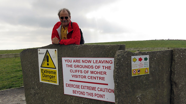 Warning of Unstable Ground on the Cliffs of Moher