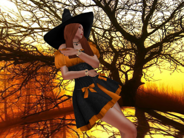 *GF* 2014 Halloween Gift Dress Set WITCH DRESS & HAT
