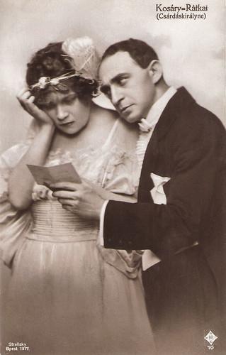 Emmi Kosáry and Márton Rátkai in Csárdáskirálynö (1916)