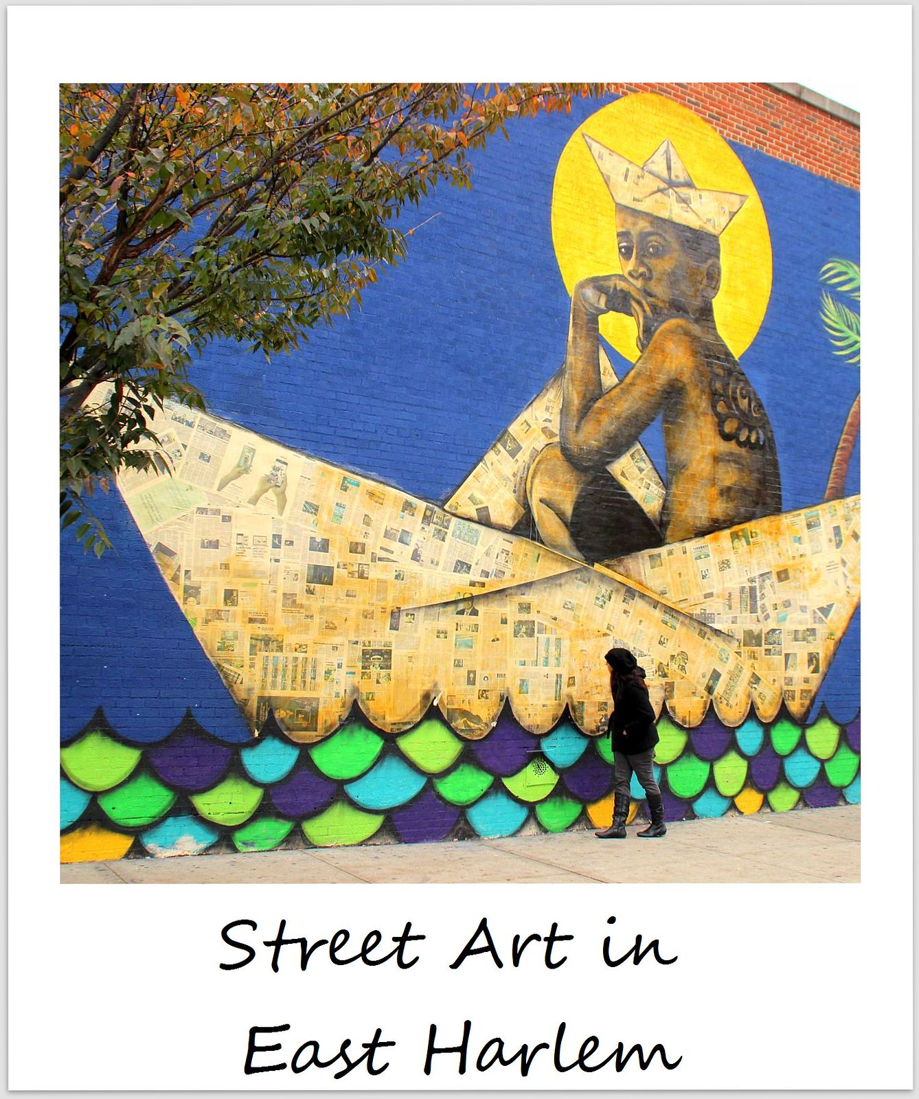 polaroid of the week usa new york city harlem street art viajero